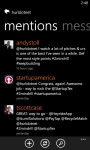 A few of the mentions from twitter about our pitch at Cowboys Stadium (even Scott Case gave us props!)